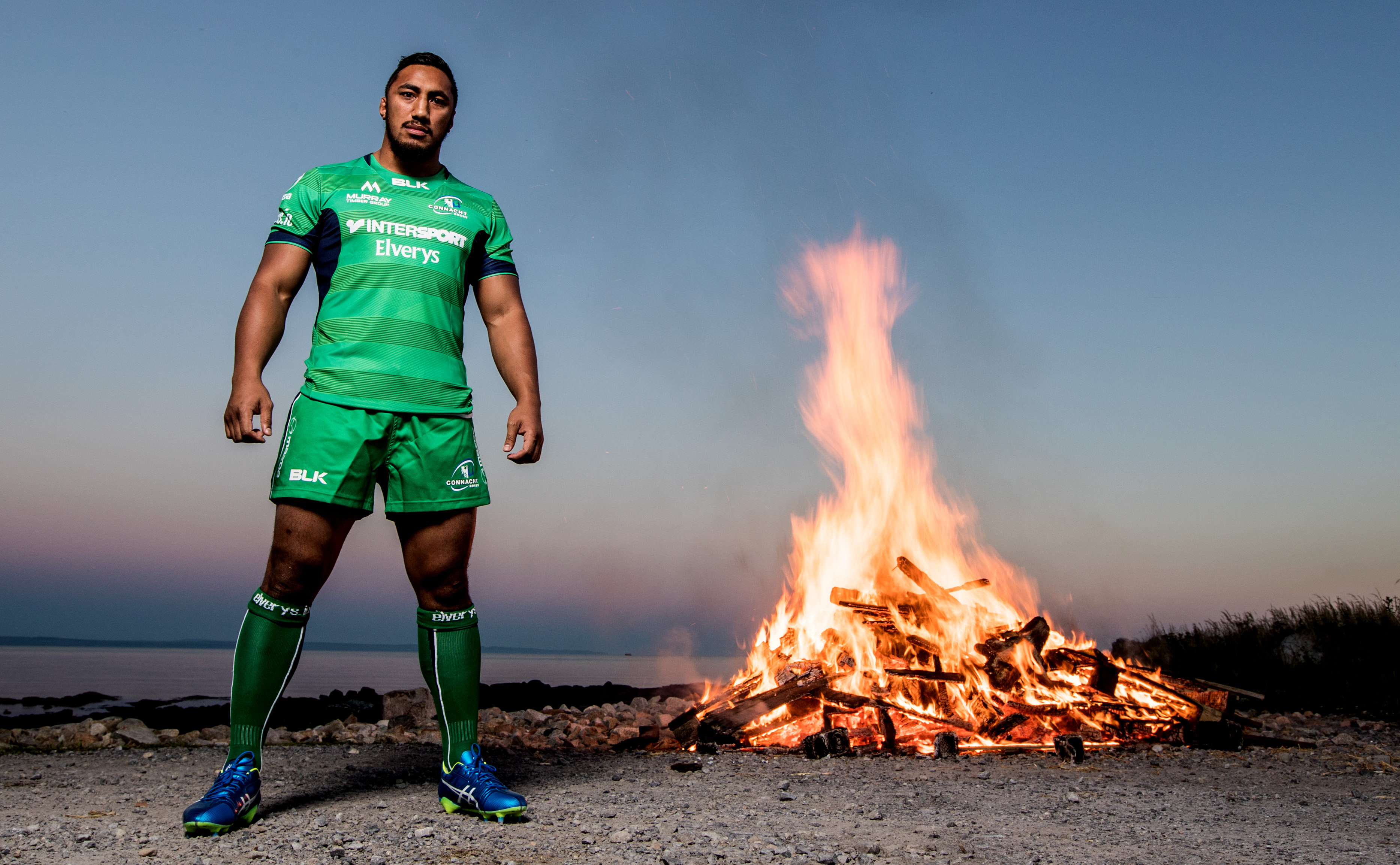 REPRO FREE***PRESS RELEASE NO REPRODUCTION FEE*** Launch Of The 2016/17 Connacht Rugby Home Jersey, Galway 16/8/2016 Bundee Aki, John Muldoon, and Tiernan O'Halloran launch the 2016/17 Connacht Rugby home jersey in conjunction with new title sponsor and official retail partner Elverys Intersport. For exclusive content and to see how Elverys Intersport welcome home Connacht Rugby, visit www.elverys.ie or follow @Elverys on Twitter and Facebook at facebook.com/ElverysSports Pictured today Bundee Aki Mandatory Credit ©INPHO/James Crombie