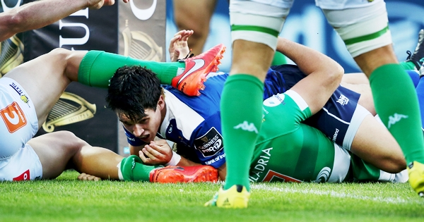 Joey Carbery scores a try 2/9/2016