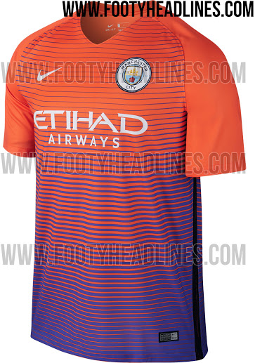 competitive price f5d06 a4ed1 LEAKED: Manchester City oddly opt for orange and purple mix ...