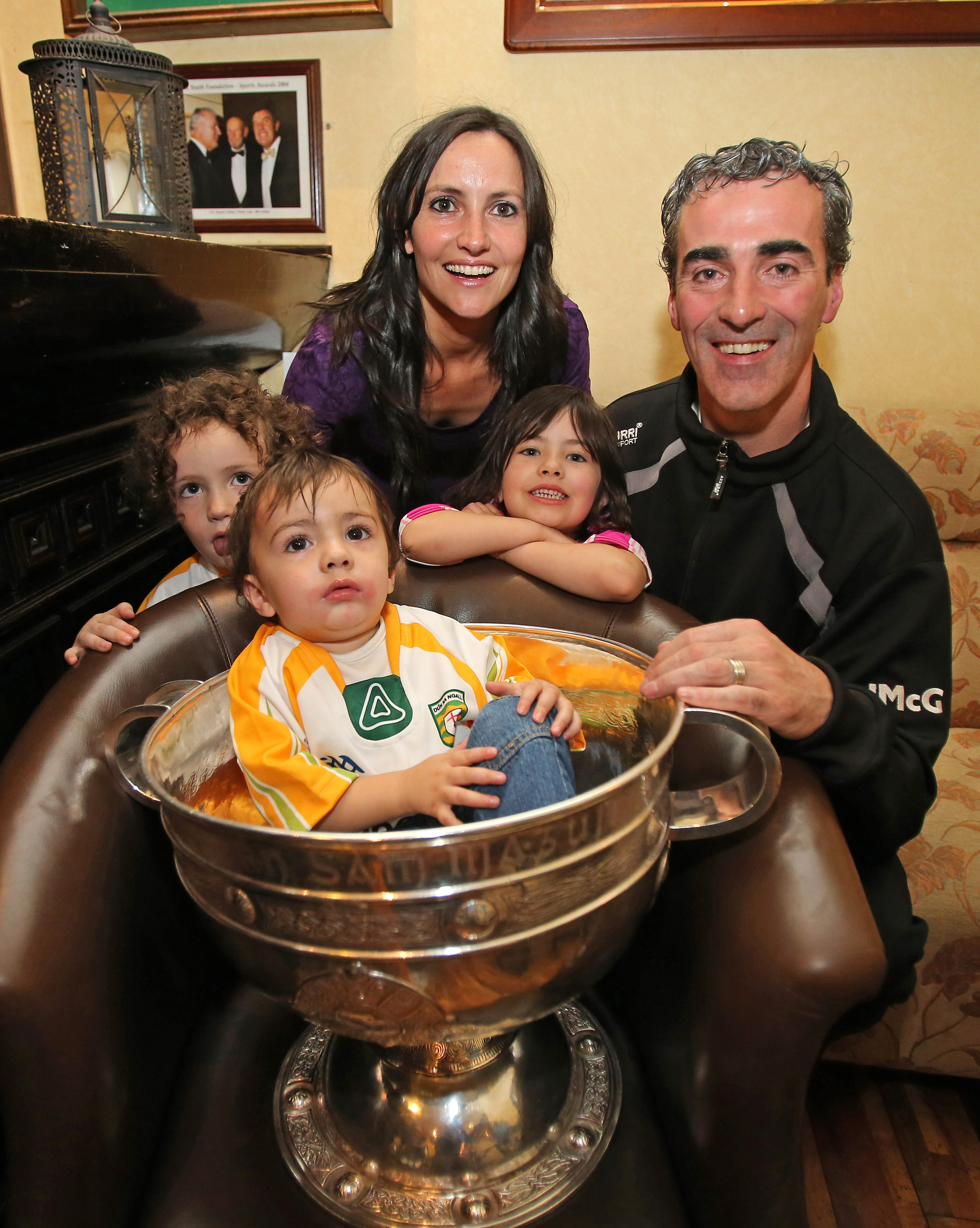 GAA Football All Ireland Champions Donegal at Team Hotel 24/9/2012 Manager  Jim