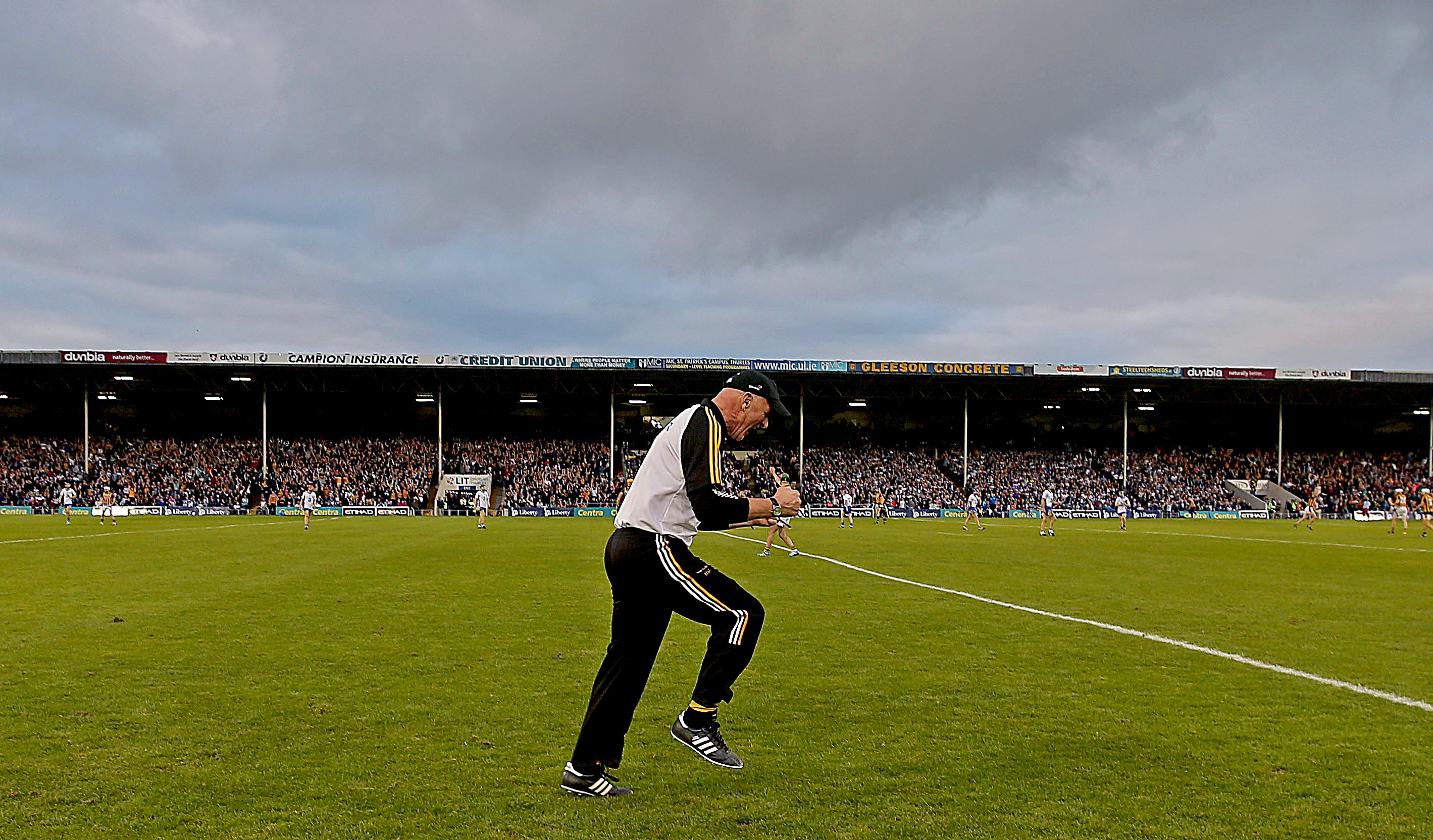 GAA All-Ireland Senior Hurling Championship Semi-Final Replay, Semple Stadium, Tipperary 13/8/2016 Kilkenny vs Waterford Kilkenny manager Brian Cody celebrates in the closing stages Mandatory Credit ©INPHO/Donall Farmer