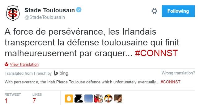 Toulouse tweet