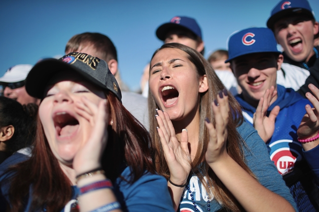 This video of 'Anchorman' characters watching Cubs win World Series is awesome