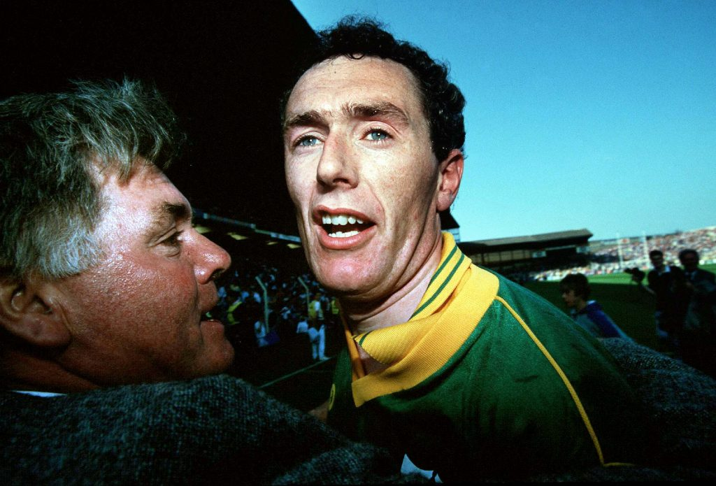 Leinster Football Championship Third Replay Dublin vs Meath 6/7/1991 Brian Stafford of Meath celebrates after the game Mandatory Credit ©INPHO