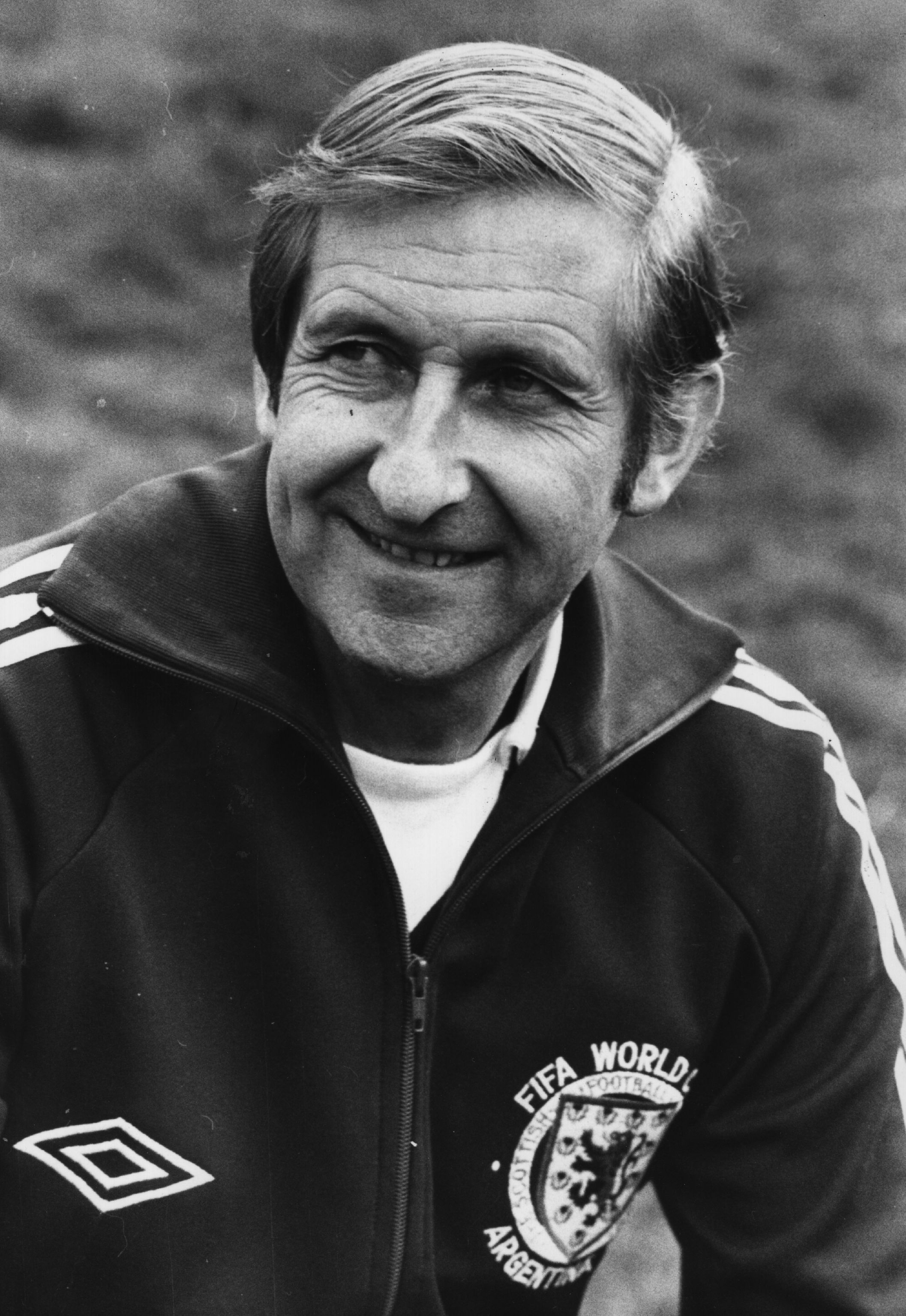 16th May 1978: Footballer Ally MacLeod of Motherwell and manager of the Scottish football team. MacLeod resigned from the national side after Scotland's disappointing performance in the 1978 World Cup in Argentina. Despite having a highly rated team, including Kenny Dalglish and Archie Gemmill, Scotland lost to Peru and Iran and finished bottom of their group but played well against Holland in their last game and won 3 - 2. (Photo by Evening Standard/Getty Images)
