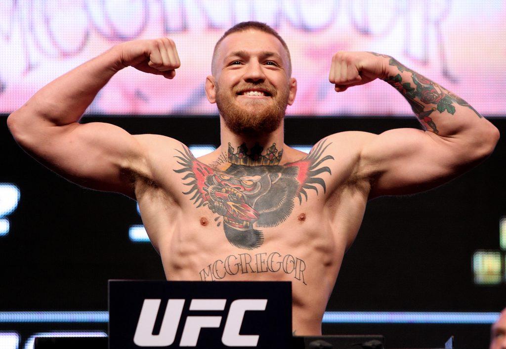 Conor McGregor weights-in 4/3/2016