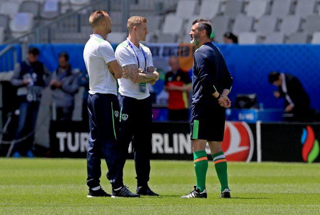 Roy Keane with David Meyler and James McClean 18/6/2016