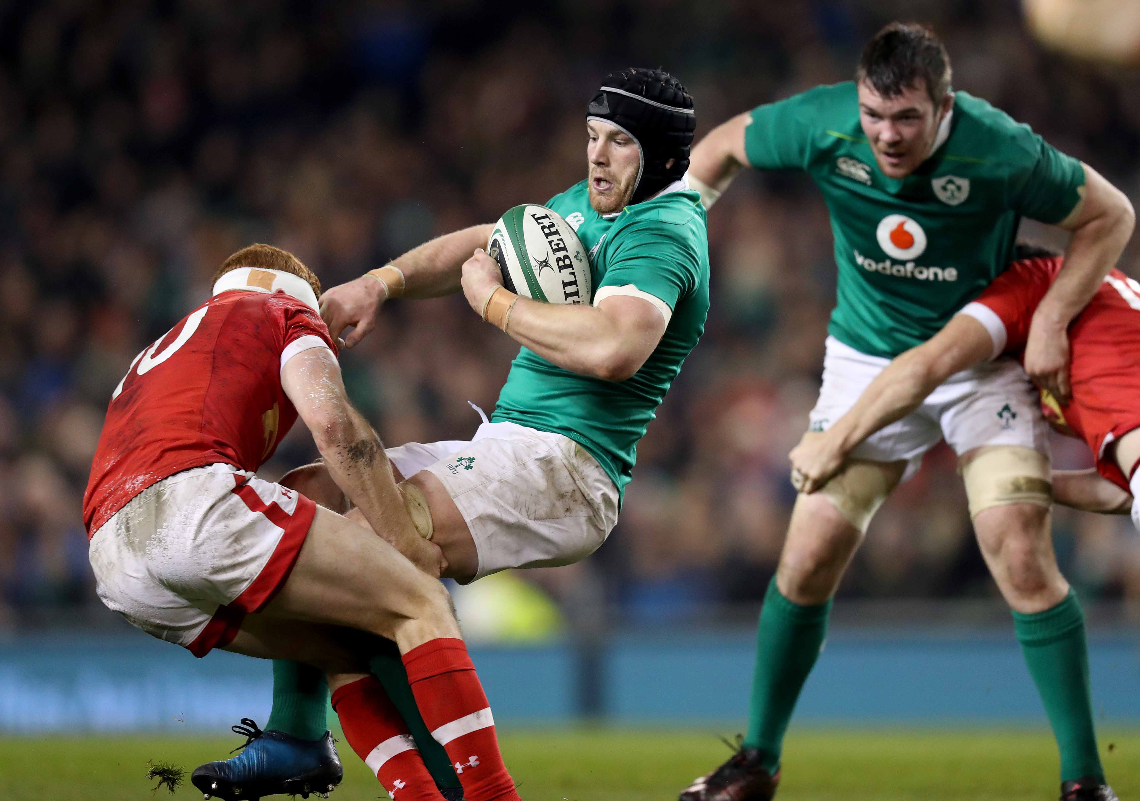 Sean O'Brien is tackled by Connor Braid 12/11/2016