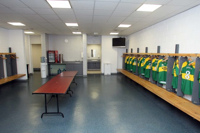 A general view of the changing rooms 17/1/2008