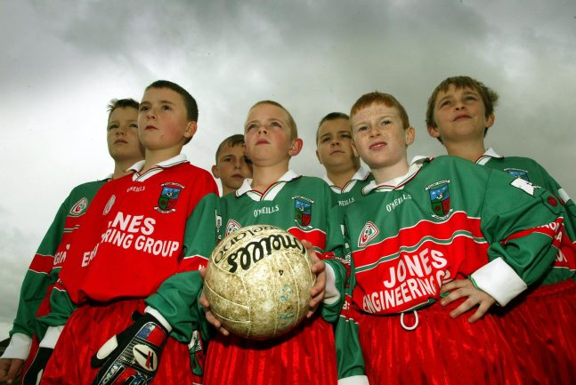 A group of young footballers 3/5/2003