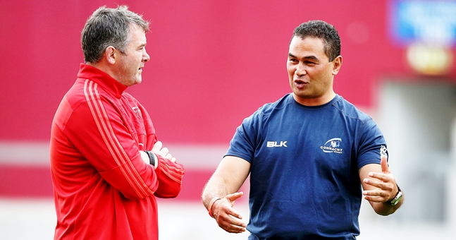 Anthony Foley with Pat Lam 21/8/2015
