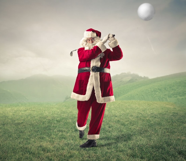 Santa lets rip