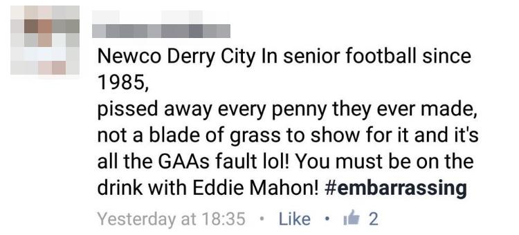 Derry comments