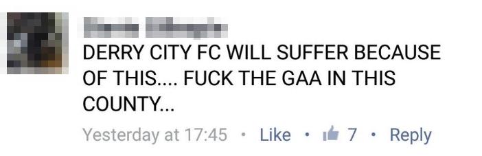 Derry comments 1