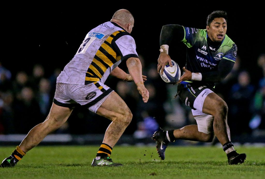 European Rugby Champions Round 4, Sportsground, Galway 17/12/2016 Connacht vs Wasps Connacht's Bundee Aki Mandatory Credit ©INPHO/Tommy Dickson