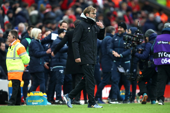 Jürgen Klopp apologises for outburst at fourth official after Chelsea draw