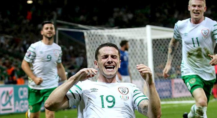 Robbie Brady makes Irish football history