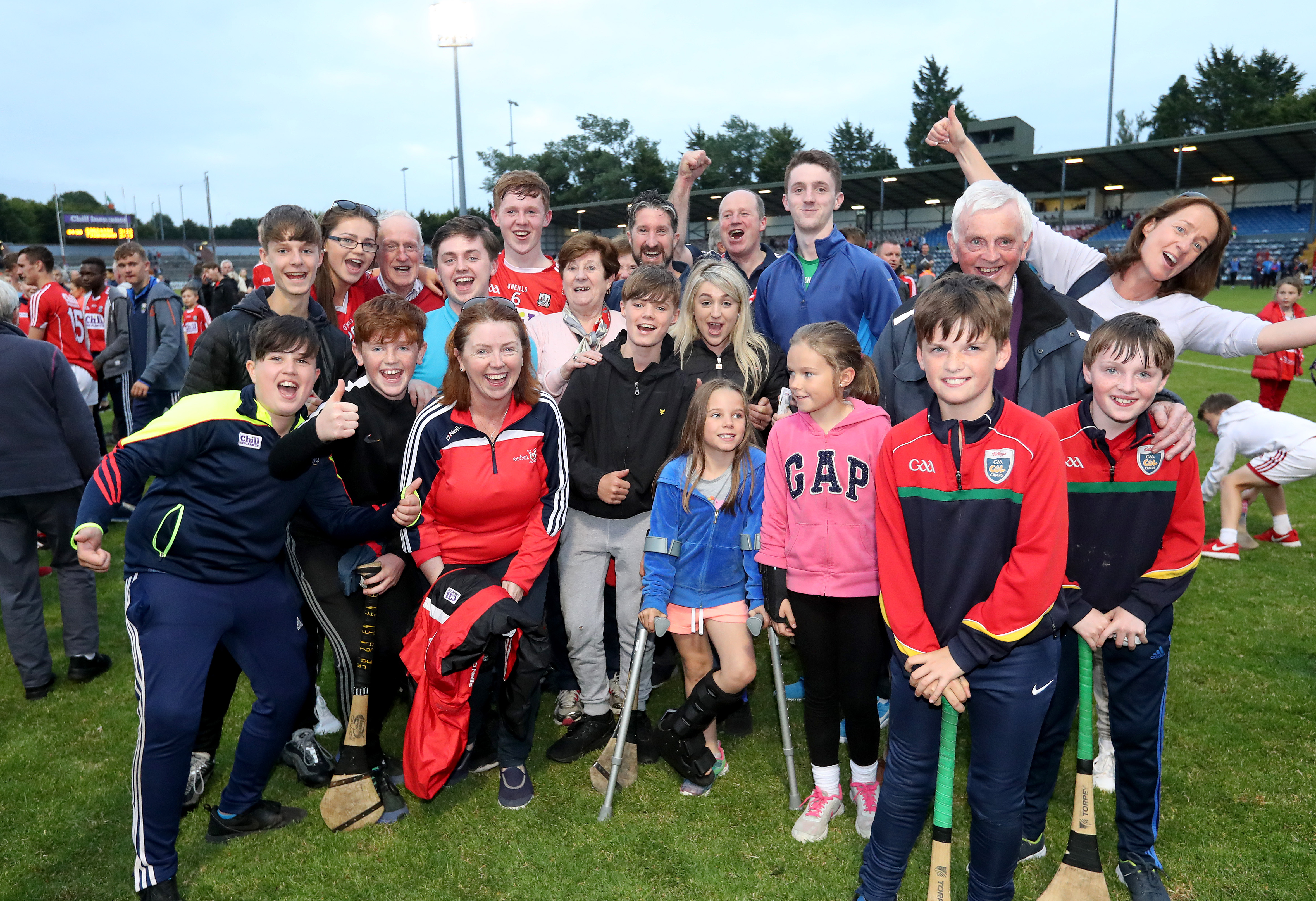 the jubilant scenes in páirc uí rinn after minor triumph were