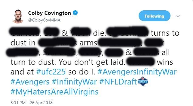 Colby Covington Infinity War