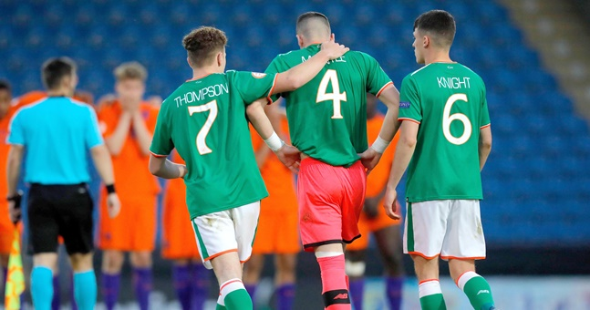 Father of Ireland U17 keeper 'outraged' at referee's 'harsh' decision