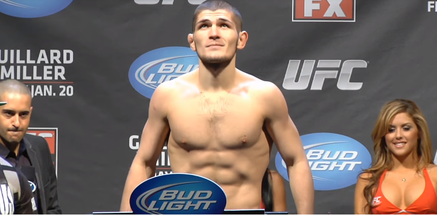 Khabib Nurmagomedov weigh-in