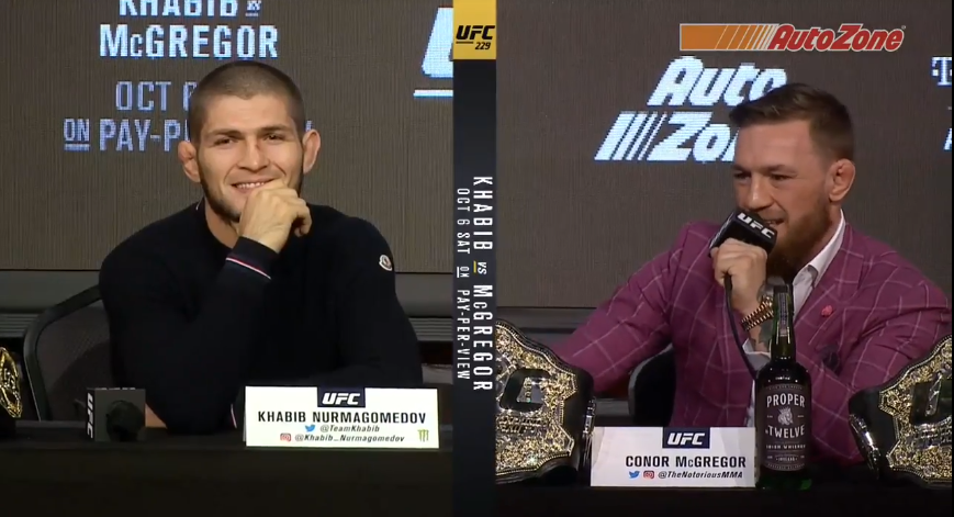 How Khabib Nurmagomedov Reacted To Pretty Much Every Conor Mcgregor Press Conference Insult Sportsjoe Ie