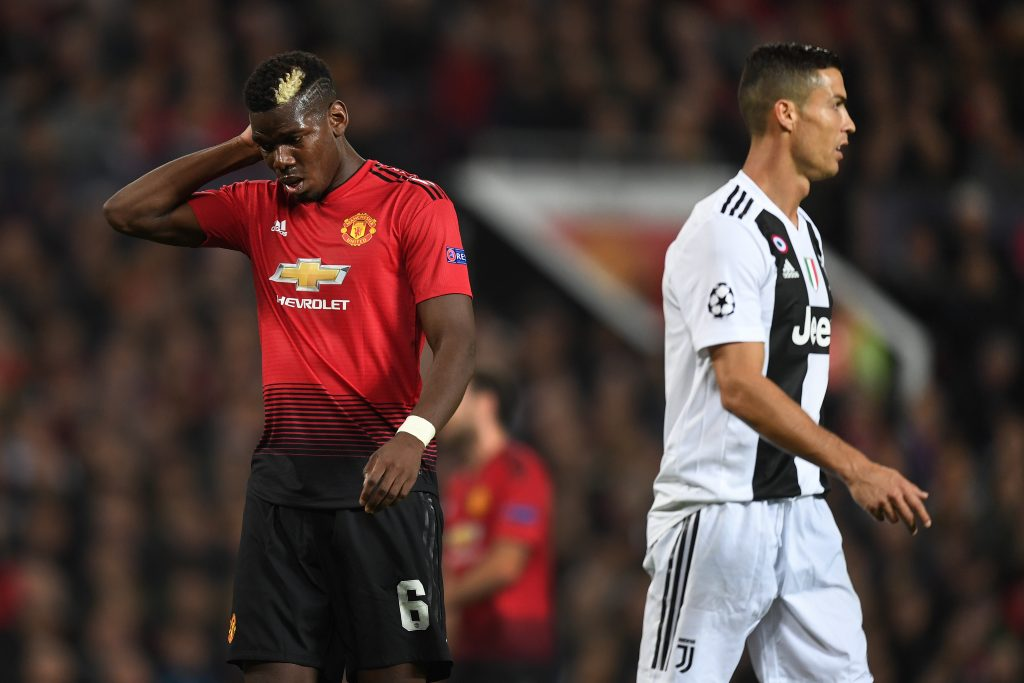 Pogba angers United fans after posing with Juventus gift bag following defeat