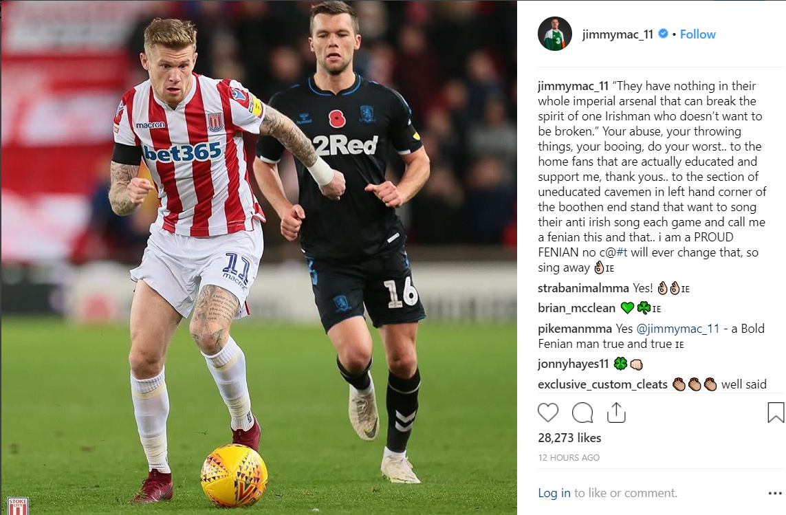 McClean In Trouble Over Social Media Post