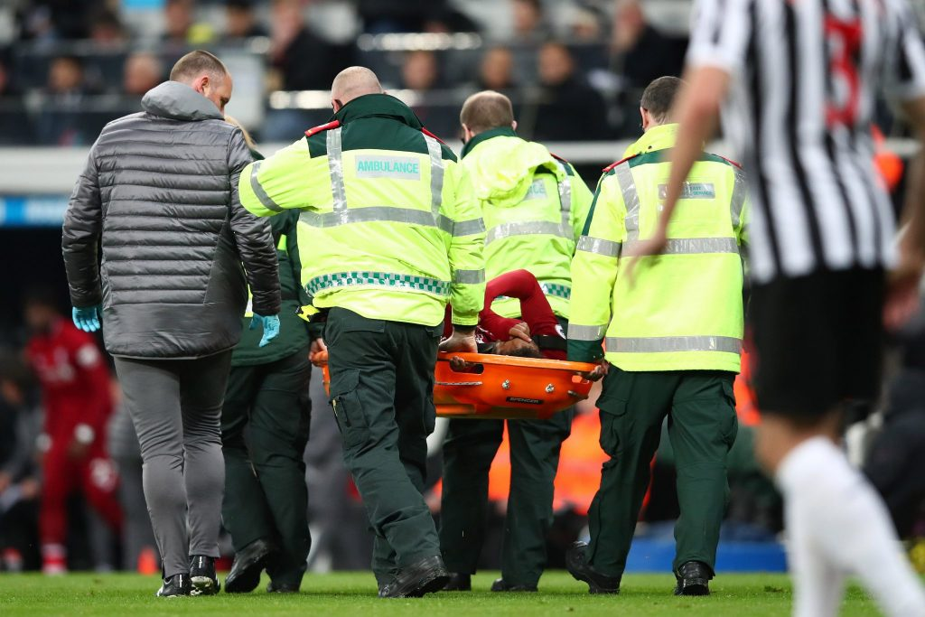Mohamed Salah: Liverpool forward taken off on stretcher at Newcastle